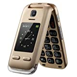 Obooy EG520 Senior Unlocked GSM Cell Phone, SOS Button, Hearing Aid Compatible, Senior