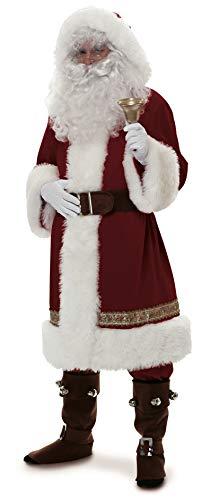 Rubie 's Offizielles Super Deluxe Santa Anzug Old Time mit Kapuze Erwachsene Kostüm Standard (Old Time Kostüm)