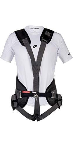 Magic Marine Smart Harness Schwarz 180052 - Unisex - Einstiegsgeschirr für alle Boote - Sicherheits-Schnellverschlusshaken -