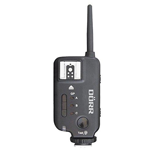 Dörr 371565 RS Funk Sender/Empfänger Kamerafernauslöser für Systemblitzgerät und Studioblitzköpf (Reichweite bis 400 m) schwarz
