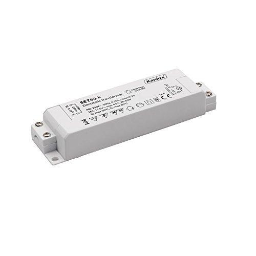 Elektronischer Transformator 60 VA, 20 - 60 Watt Trafo + LED Taschenlampe aus Metall - 60 Va Elektronische