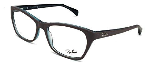 Ray Ban Optical Montures de lunettes RX5298 Pour Femme Shiny Black, 53mm 5389: Matte Grey / Transparent Oil