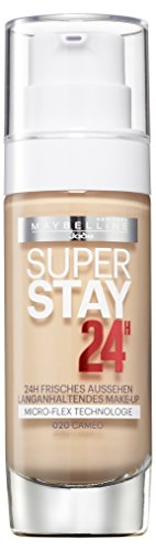 Maybelline New York Super Stay 24H Make-Up Cameo 20, Schminke in einem Hautfarben-Ton, 1er Pack (1 x 30 ml)