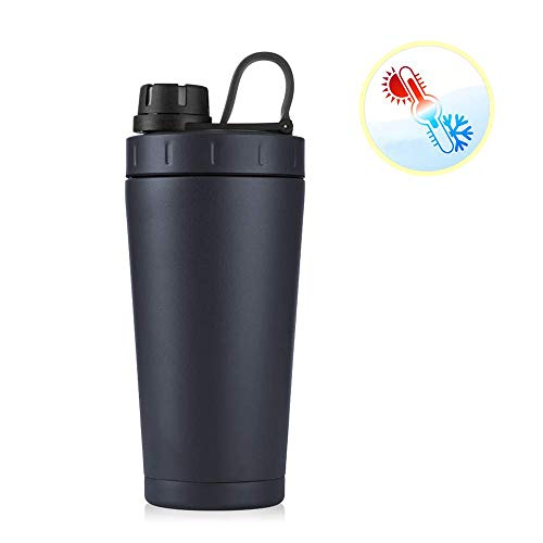 ZJZ Thermobecher, aus Edelstahl Isolierbecher Auslaufsicher Kaffebecher Reisebecher BPA frei Einhand-Verschluss 700ml für Bahnfahrt, Autofahrt, im Flugzeug Usw