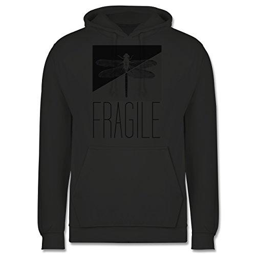 Statement Shirts - Fragile - Libelle - Männer Premium Kapuzenpullover / Hoodie Dunkelgrau