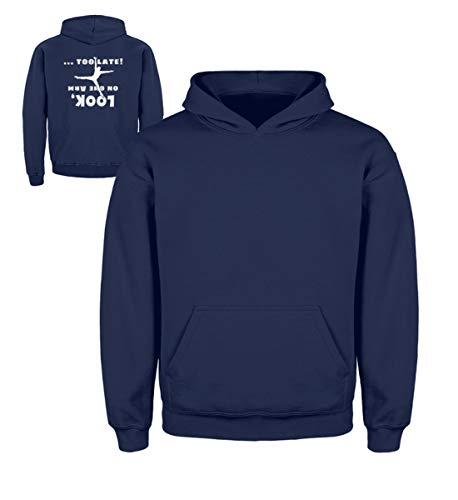 Akro 14 (Shirtee Handstand Einarmer Kopfüber - Für sportliche Gymnastik-, Akro-Yoga- und Akrobatik-Fans - Kinder Hoodie -12/14 (152/164)-Marine-blau)