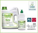 NATURELLE KONY LAVAVAJILLAS MANUAL ULTRA CONCENTRADO ECOLÓGICO Detergente neutro de uso general para el lavado manual de la vajilla, cubertería, cristalería y todo tipo de menaje. Garrafa 4 Litros
