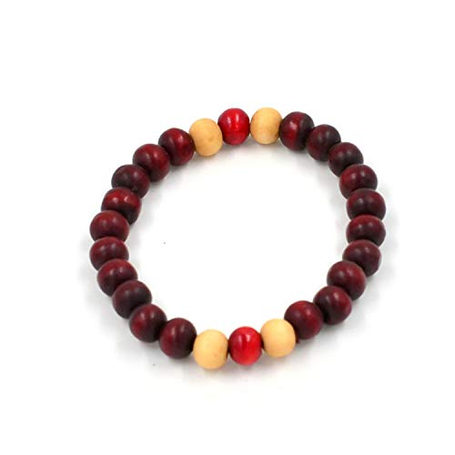us Glasperlen, W 8Mm Sandalwood Meditation Prayer Handmade Beaded Women Men Bracelet Wooden Jewelry Yoga Bracelets 2 Brown ()