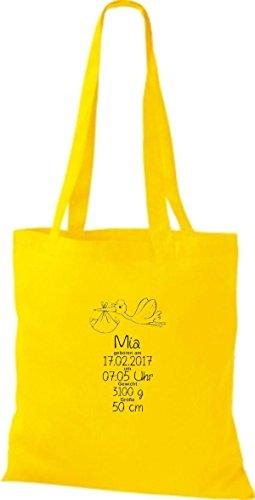 Shirtstown , Cabas pour femme jaune doré