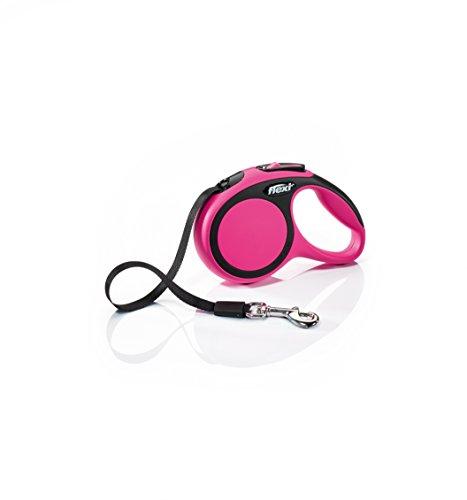 FLEXI Hundeleine, einziehbar, 3 m, Größe XS, Pink