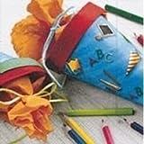 Erster Schultag - Dekoset Einschulung Serviette ABC Konfetti Dekoschultüten -
