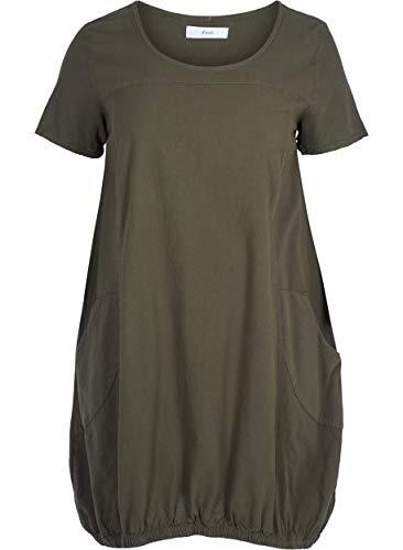 Zizzi Damen Weiches Kleid, Grün (Green 1580), 54 (Herstellergröße: XL (54/56))