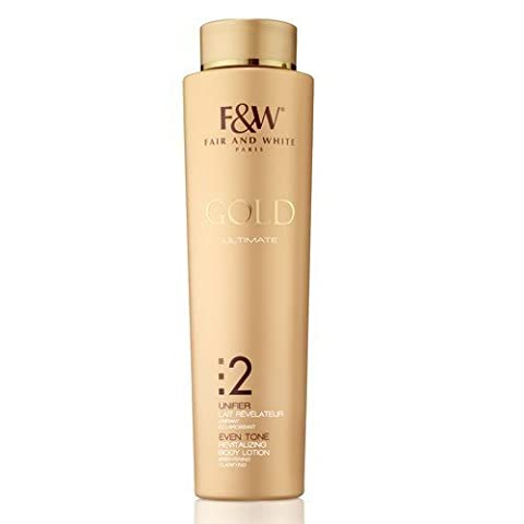 FAIR & WHITE GOLD ULTIMATE 2 UNIFIER EVEN TONE REVITALIZING BRIGHTENING BODY LOTION 500ml
