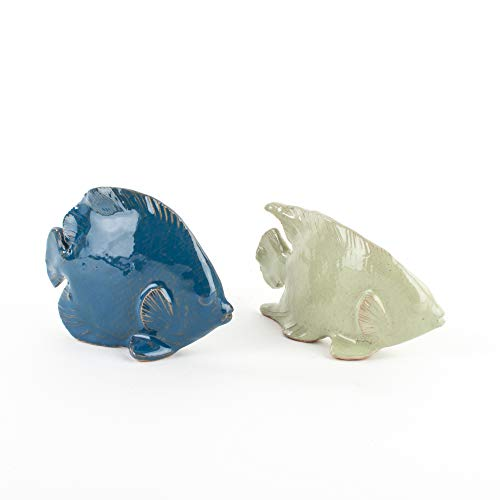 Zoom IMG-2 pesci in ceramica set 2