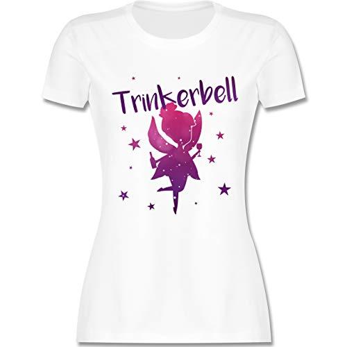 JGA Junggesellinnenabschied - Trinkerbell - S - Weiß - L191 - Damen T-Shirt Rundhals