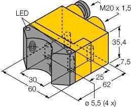 Turck Sensor induktiv Ni4-DSU35TC-2Y1X2 Induktiver Näherungsschalter 4047101063912