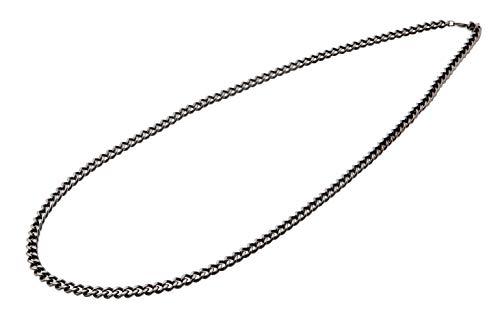 3d0448580018 Collar tipo cadena de titanio carbonizada Phiten de 66 cm.