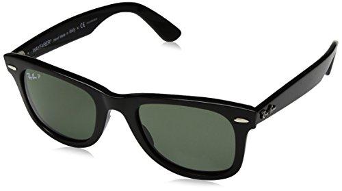 Ray-Ban RAYBAN Unisex-Erwachsene Sonnenbrille 4340, Black/Greenpolarized, 50