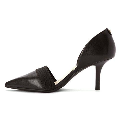 Michael Kors Michael Wendy Pump Round Heels Toe en cuir Black