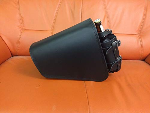 ORLETANOS CLEAN Black Seitentasche kompatibel mit Linke Seite Schwingentasche Satteltasche Tasche Motorradtasche Motorrad Leder schwarz Bobber HD Custom Chopper ORLETANOS schwarz Biker neu