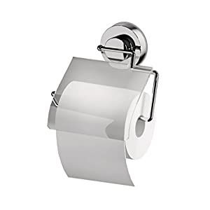 RIDDER Saug-WC-Papierhalter ca. 165x165x34 mm, Edelstahl/Kunststoff transparent
