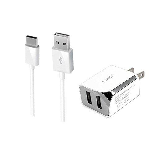 MicroUSB Ladegeräte für Nokia 5, 6, 3,105(2017), 130(2017), 33103G, 3310, 150(schwarz)–2,1Ah KFZ-Ladegerät + Home-Ladegerät (USA Style) Adapter + USB-Kabel (Ac Wand Home-adapter Auto)