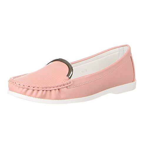 Damen Schuhe, WH71, MOKASSINS Rosa