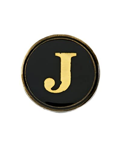 Cath Kidston Circular Pin Badge with Printed Alphabet Insert - J