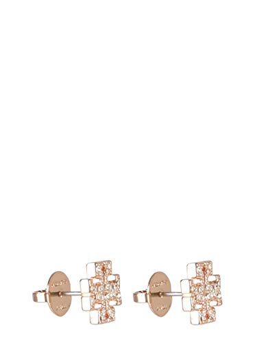 Tory Burch Damen 53423696 Rosa Metall Ohrringe