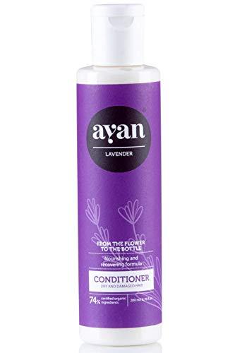 Naturkosmetik Conditioner für Sehr Trockenes und Beschädigtes Haar ✔ Mit BIO Sheabutter, Kokosöl und Arganöl ✔ Ohne Silikone, Parabene, Sulfate und Co ✔ AYAN 200ml