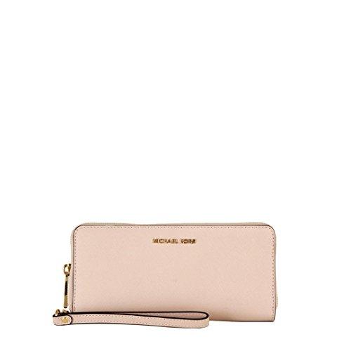Brieftaschen Michael Kors Damen Leder Rosa und Gold 32S5GTVE9LSOFTPINK Rosa 2.5x10x21 - Mk Für Brieftaschen Frauen