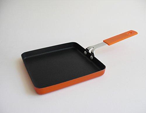 14.3 cm Mini Square Frying Pan, 2 mm Aluminum Non-Stick - Japanese Omelet Egg