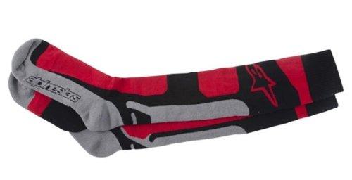 Alpinestars Rot Schwarz Grau 2014 Tech Coolmax Mx-Socken (L/Xxl, Rot) -