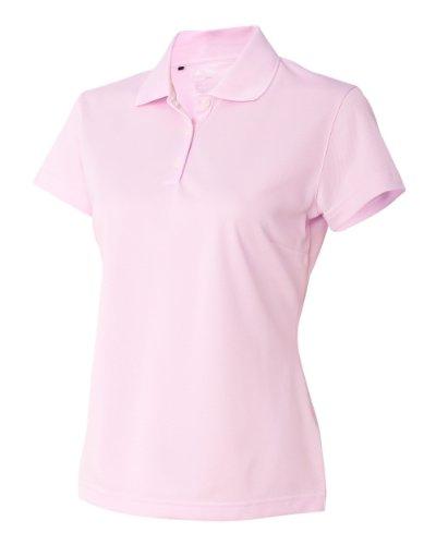 Adidas ClimaLite Basic Short Sleeve Polo, 2XL, Tea Rose/White