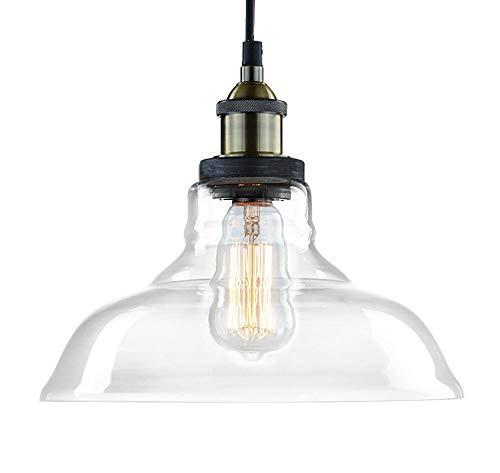 claxy Vintage industriel Edison de cuisine en verre Pendentif d'éclairage