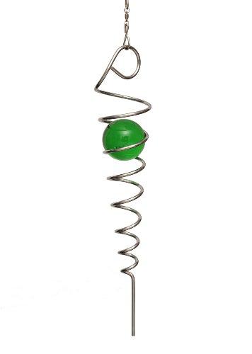home2garden-spirale-infinite-pour-le-jardin-en-acier-inoxydable-avec-bille-vert