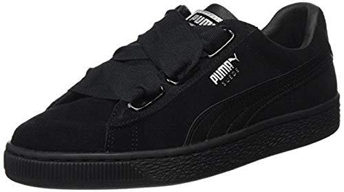 Puma Damen Suede Heart EP Sneaker, Schwarz Black-Metallic Beige, 38 EU