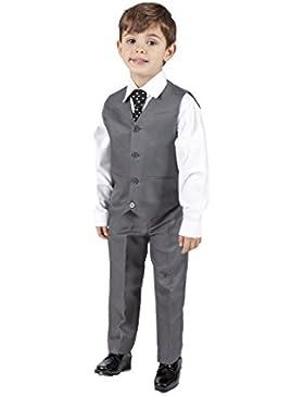 Romario Los niños traje de chaleco gris 4piezas