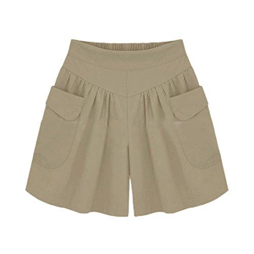 Damen Hosen Sommer LHWY Frauen Plus Größe Shorts -