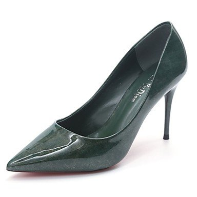 RTRY Donna Luce Tacchi Suole Estate Autunno Pu Abbigliamento Casual Stiletto Heel Borgogna Kaki Green Nero 2A-2 3/4In US7.5 / EU38 / UK5.5 / CN38