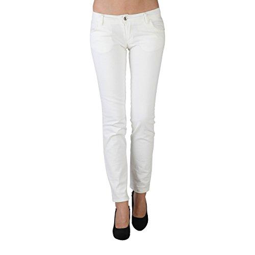 Extyn -  Pantaloni  - zip - Donna Bianco bianco
