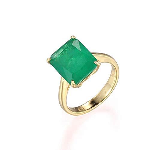OLGN Ringe Für 925 Silber Ring Quadrat Rubin Und Smaragd Ring Hochzeit Verlobungsring Damen Edlen Schmuck 8 (Kostüm Schmuck Ring Einstellungen)