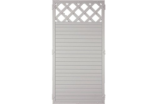 Sichtschutzzaun Kunststoff Gitter grau 90 x 180 cm (Serie Juist)