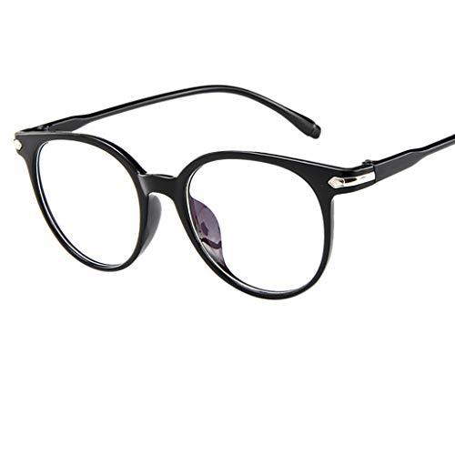 IYHENZ Metallrahmen Runde Brille Retro Brille Mode Rahmenspiegel Brillengestelle Klassische Nerdbrille Flacher Spiegel Transparent Geleefarbe Brillengestelle(Lila,1PC)