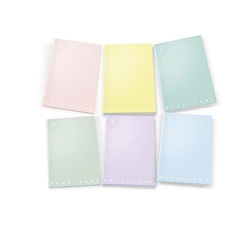 Pigna monocromo pastel 02282120c, quaderno formato a4, rigatura 0c, righe per 4° e 5° elementare, carta 80g/mq, pacco da 10 pezzi