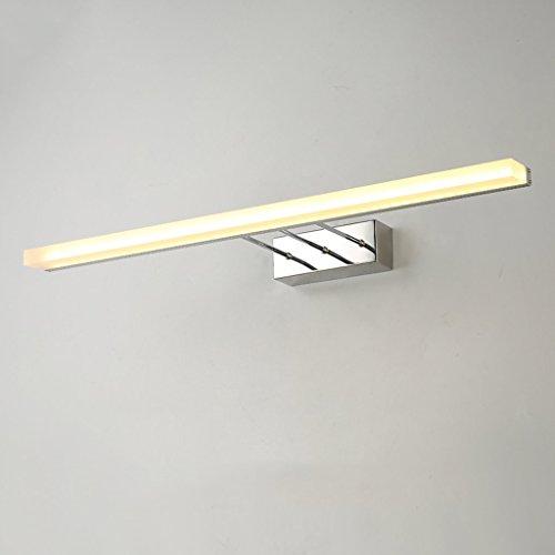 Wohnzimmer Spiegelschrank (Wddwarmhome Aluminiumlegierung LED Wohnzimmer Spiegelschrank Licht Badezimmer Spiegel Frontleuchte Wandleuchte Wasserdicht Nebel Silber Aussehen Einfach Und Stilvoll ( Farbe : Weißes Licht-120cm 16w ))