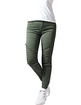 Urban Classics Ladies Stretch Biker Pants, Pantalones para Mujer