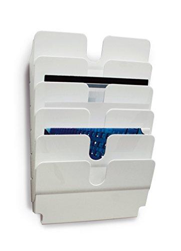 DURABLE - 1700014011 - FLEXIPLUS 6 A4 EN HORIZONTAL. Dispensador de folletos con 6 compartimentos A4 apaisados. Medidas: 750 x 340 x 100 mm (P x An x Al). Color: blanco