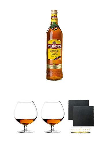 Wilthener Goldkrone Spirituose 1,0 Liter + Cognacglas/Schwenker Stölzle 1 Stück - 103/18 +...