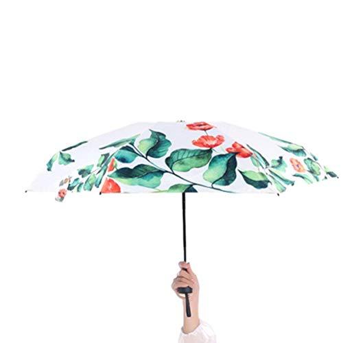 Queenhome mini ombrello pieghevole ultraleggero doppia-uso ombrello da sole/pioggia portatile ombrello regalo perfet per donne bambini e amic